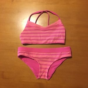 "Other - Ivivva girls ""Hey Sailor"" pink lemonade swim suit"